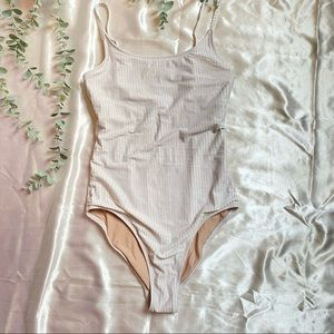 Old Navy Off White One Piece Bathing Suit